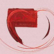 Letter From My Heart Fine Fractal Art Art Print