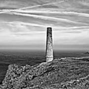 Levant To Pendeen View Black And White Art Print