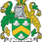 Levinge Coat Of Arms Irish Art Print