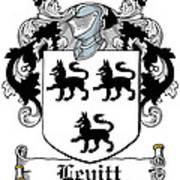 Levitt Coat Of Arms Irish Art Print