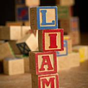 Liam - Alphabet Blocks Art Print