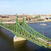 Liberty Bridge And Budapest Skyline Art Print