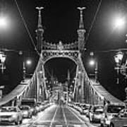 Liberty Bridge At Night Art Print
