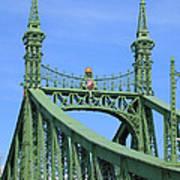Liberty Bridge Budapest Art Print
