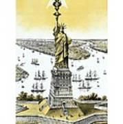 Liberty Enlightening The World  Art Print by War Is Hell Store