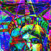 Liberty Head Abstract 20130618 Square Art Print