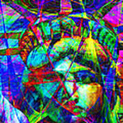 Liberty Head Abstract 20130618 Art Print by Wingsdomain Art and Photography