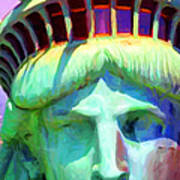 Liberty Head Painterly 20130618 Long Art Print by Wingsdomain Art and Photography