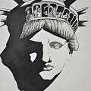 Liberty Head With People Art Print by Glenn Calloway