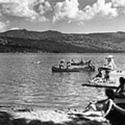 Liberty Lake Summer Leisure In 1940 Art Print