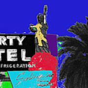 Liberty Motel Sign Statue Of Liberty Phoenix Arizona 1990-2008 Art Print