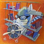 Librarian Pilot Art Print by Marina Gnetetsky