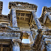 Library Of Celsus Art Print by David Smith