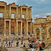 Library Of Celsus In Ephesus-turkey Art Print