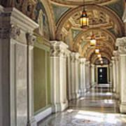 Library Of Congress Hallway Washington Dc Art Print