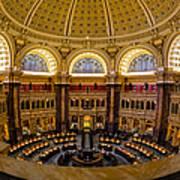 Library Of Congress Main Reading Room Art Print