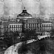 Library Of Congress Washington Dc 1902 Sketch Art Print