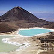 Licancabur Volcano And Laguna Verde Art Print