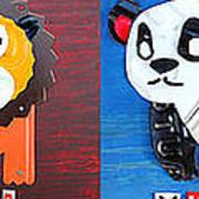 License Plate Art Jungle Animals Series 1 Art Print