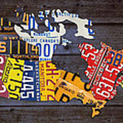 License Plate Map Of Canada Art Print