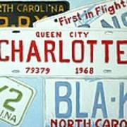 License Plates Print by Stacy C Bottoms