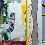 Lichtenstein's Painting With Statue Of Liberty Art Print