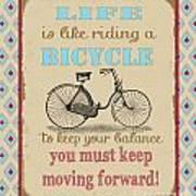Life-bicycle Art Print