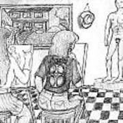 Life Drawing Class Art Print
