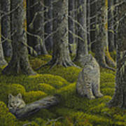 Life In The Woodland Art Print