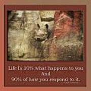 Life Is Moments Of Camouflage Art Print