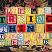 Life Is Trying Things To See If They Work Art Print