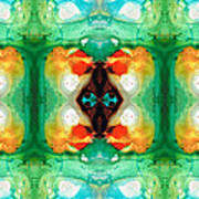 Life Patterns 1 - Abstract Art By Sharon Cummings Art Print
