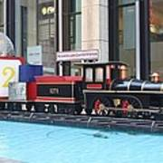 Life Size Toy Train Set In Nyc Art Print