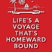Life Voyage Red Art Print