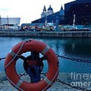 Lifebelt At Albert Dock Art Print