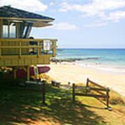 Lifeguard Hut On The Beach Art Print