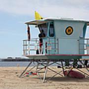 Lifeguard Shack At The Santa Cruz Beach Boardwalk California 5d23710 Art Print by Wingsdomain Art and Photography