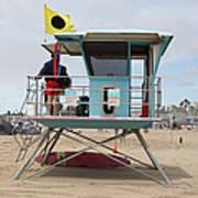 Lifeguard Shack At The Santa Cruz Beach Boardwalk California 5d23711 Art Print by Wingsdomain Art and Photography
