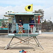 Lifeguard Shack At The Santa Cruz Beach Boardwalk California 5d23713 Art Print