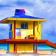 Lifeguard Station Art Print