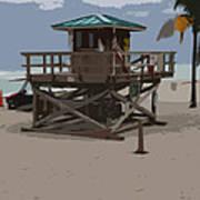 Lifeguard Station IIi Abstract Art Print