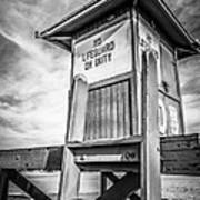Lifeguard Tower 10 Newport Beach Hdr Picture Art Print