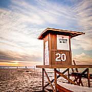 Lifeguard Tower 20 Newport Beach Ca Picture Art Print
