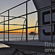 Lifeguard Tower 5  Art Print