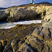 Lifeguard Tower On The Edge Of A Cliff Art Print
