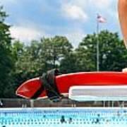 Lifeguard Watches Swimmers Art Print