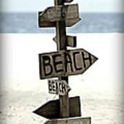 Life's A Beach Art Print