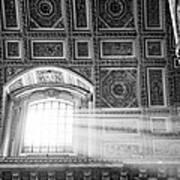 Light Beams In St. Peter's Basillica Print by Susan Schmitz