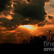 Light Beyond The Clouds Art Print
