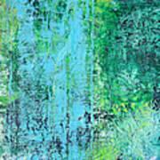 Light Blue Green Abstract Explore By Chakramoon Art Print